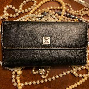 GIANI BERNINI Pebbled Leather Wallet (Black)